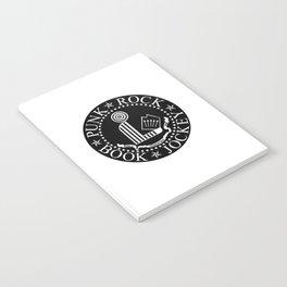 Punk Rock Book Jockey Black Logo Notebook