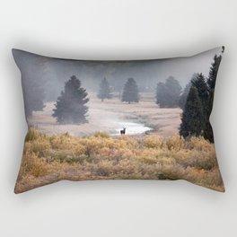 Moosey Misty Morning Rectangular Pillow