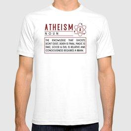 ATHEIST ATHEISM FUNNY RELIGON : Atheism definition T-shirt