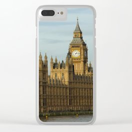 London And The Houses Of Parliament Clear iPhone Case