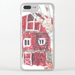 Red Barn Clear iPhone Case