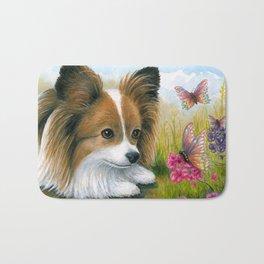 Papillon Dog Bath Mat