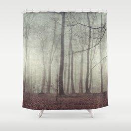 mood scape - mist woodlands Shower Curtain