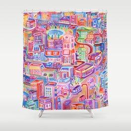 Big City Feeling Shower Curtain