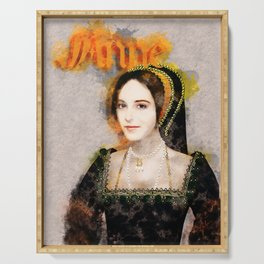 Anne Boleyn art Serving Tray
