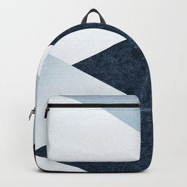Geometrics II - blue marble & silver Backpack