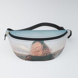 Girl Looking Out at Mount Fuji - Holga film photograph Fanny Pack