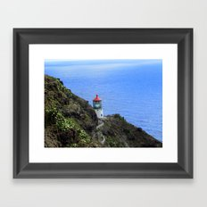 Path to the Lighthouse Framed Art Print