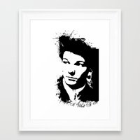 louis tomlinson Framed Art Prints featuring Louis Tomlinson by Aki-anyway