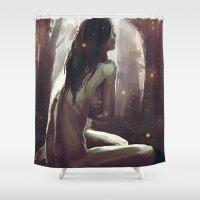 wonderland Shower Curtains featuring Wonderland by NArtist_P3rhaps