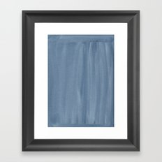 Painted Watercolour Paper - Blue Framed Art Print