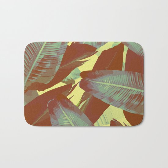 Banana Leaves Vintage Bath Mat