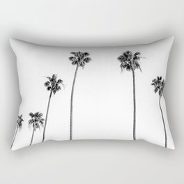 Black + White Palms Rectangular Pillow
