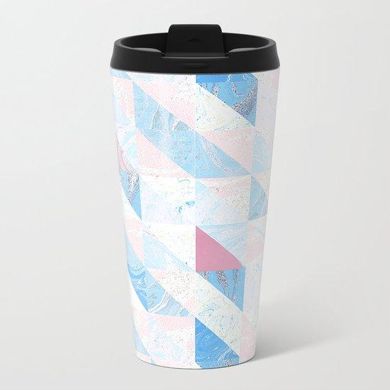 Geometric shapes Metal Travel Mug