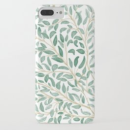 Green Leaf Pattern iPhone Case