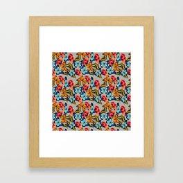 Jardim de borboletas Framed Art Print