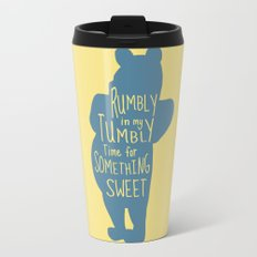 Rumbly in my Tumbly Time for Something Sweet - Winnie the Pooh inspired Print Travel Mug