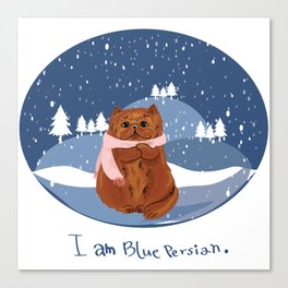 I am blue Persian. Canvas Print