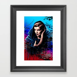 Katharine Hepburn, 60 years of drama. Framed Art Print