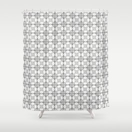 Exes and Hatches Shower Curtain