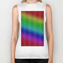 Rainbow Wave Biker Tank