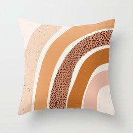 Earth Color Rainbow Throw Pillow