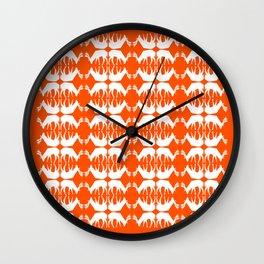 Oh, deer! in pumpkin orange Wall Clock