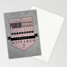 reveurs disparus Stationery Cards