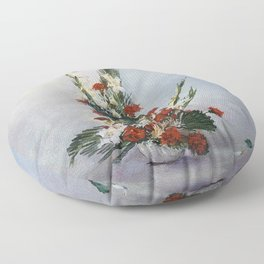 Bodegón de flores/Natureza morta de flores/Still life of flowers Floor Pillow