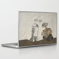 wall e Laptop & iPad Skins featuring R2D2 and Wall E by Victoria Schiariti