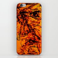 depression iPhone & iPod Skins featuring Depression in Charcoal by Abram Freitas