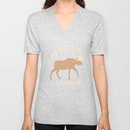 Don't Moose With Me Unisex V-Neck