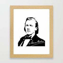 Johannes Brahms (1833 – 1897) in 1853 (2) Framed Art Print