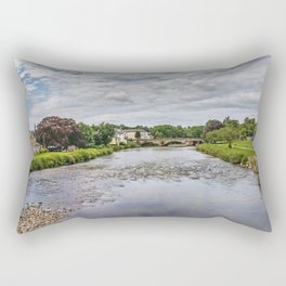 River Derwent Flowing Through Cockermouth Rectangular Pillow