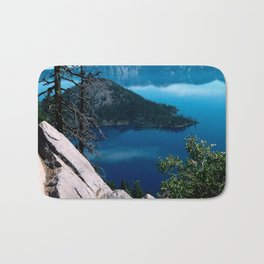 Volcano Deep Blue Crater Lake Oregon USA Bath Mat