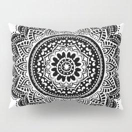 black white mandala Pillow Sham