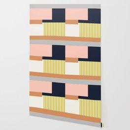 Sol Abstract Geometric Print in Multi Wallpaper