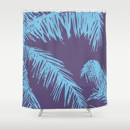 Ultra Violet Palm Print Shower Curtain