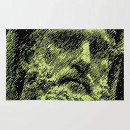 Hercules face. Digital Illustration from a classical sculpture. Rug