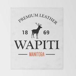Manitoba Premium Leather Throw Blanket