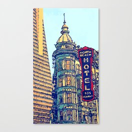 North Beach, San Francisco #068 by Mark Gould Canvas Print