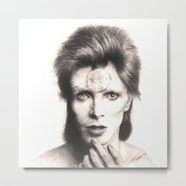bowie - spider from mars... Metal Print
