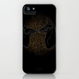 Sacred Anubis & Bastet iPhone Case