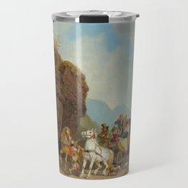 BÜRKEL, HEINRICH (Pirmasens 1802 - 1869 Munich) The coach ambush. Travel Mug