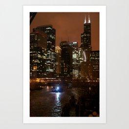 Nighttime Chicago Art Print