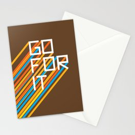 70s Go For It Stationery Cards