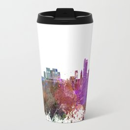 Mobile skyline in watercolor background Travel Mug