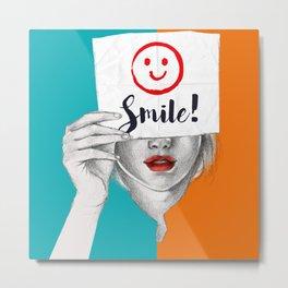 Smile Metal Print