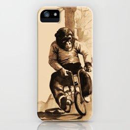 Bicycle Monkey iPhone Case