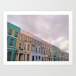 Colourful houses in Notting Hill, London Art Print